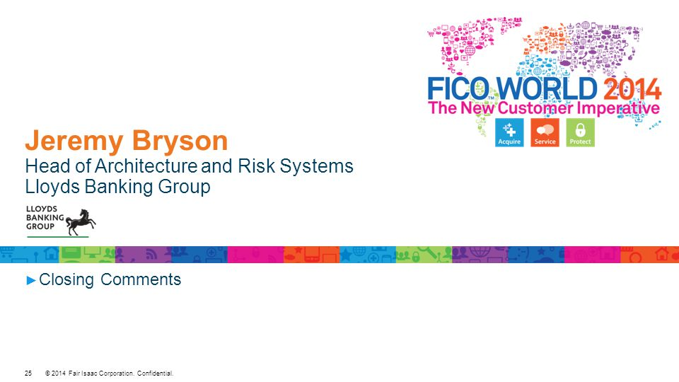Jeremy Bryson Head of Architecture and Risk Systems Lloyds Banking Group