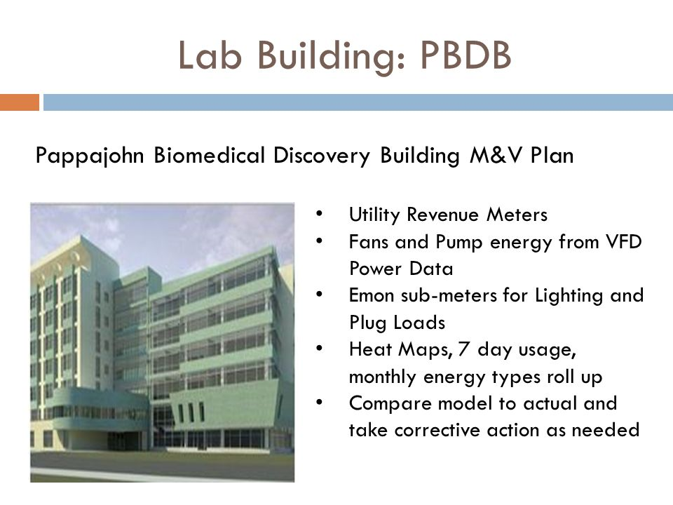 Lab Building: PBDB Pappajohn Biomedical Discovery Building M&V Plan