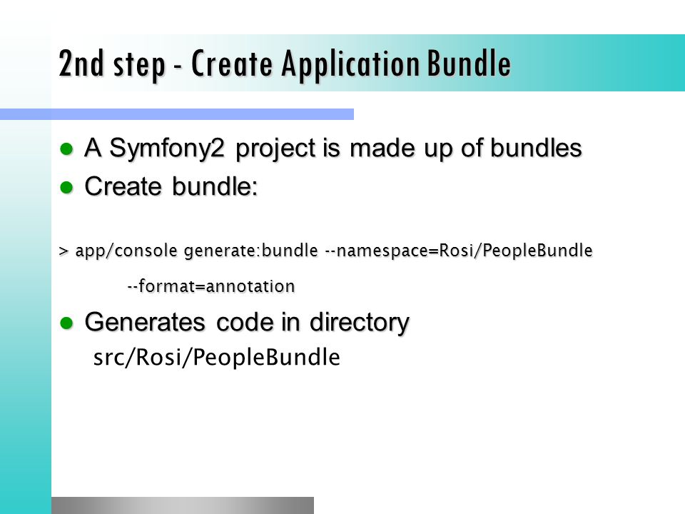 2nd step - Create Application Bundle