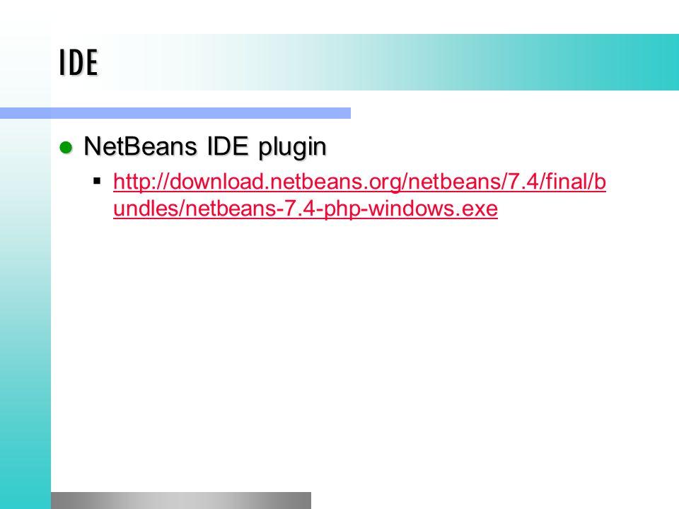 IDE NetBeans IDE plugin