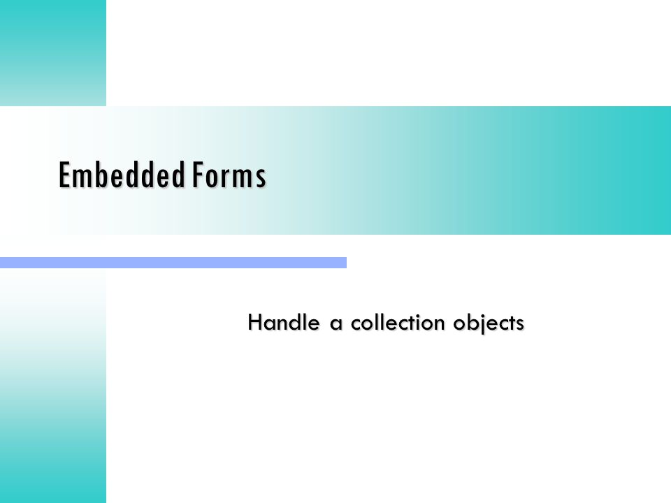 Handle a collection objects