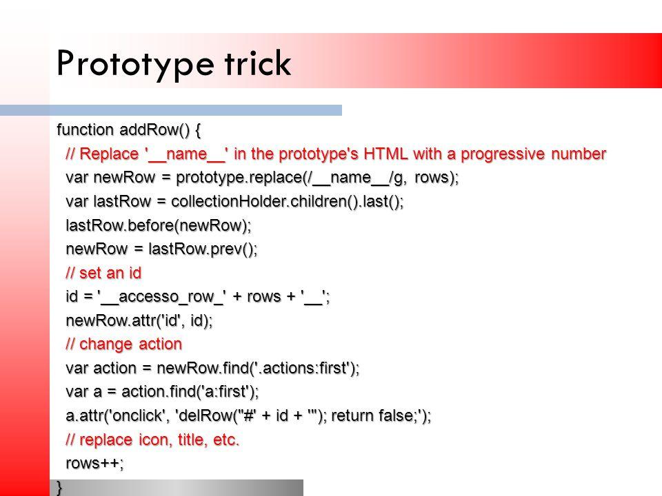 Prototype trick