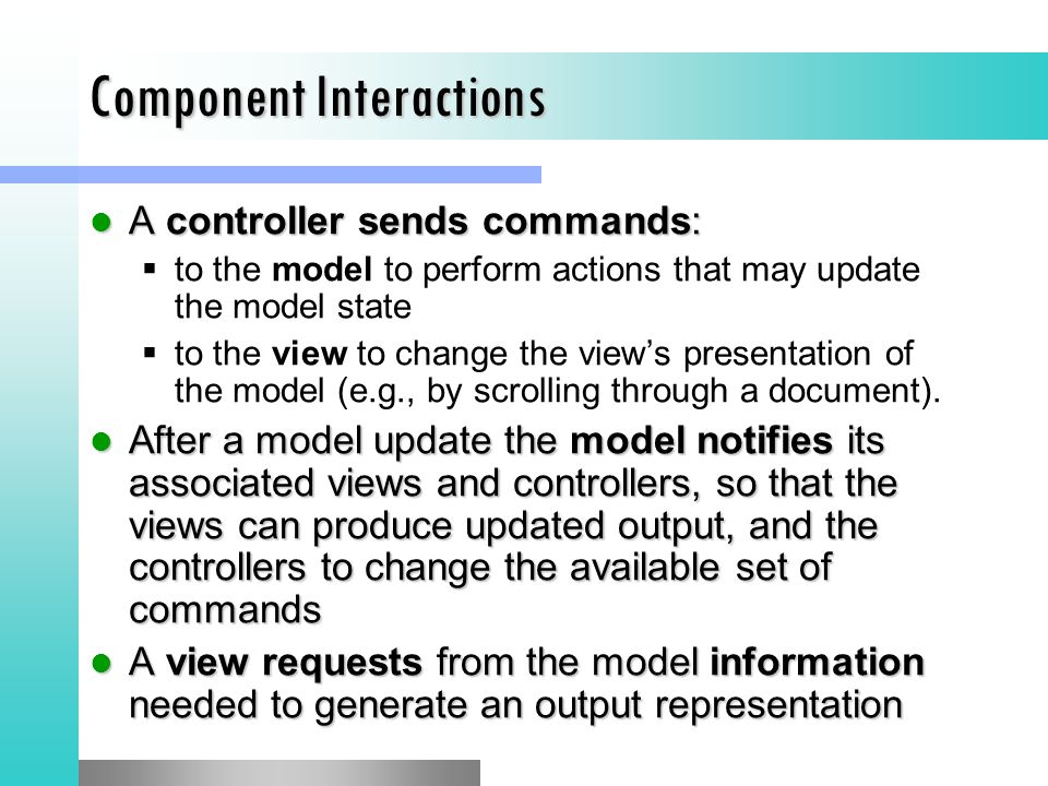 Component Interactions