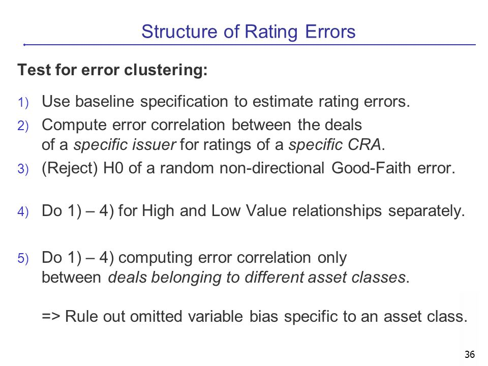 Structure of Rating Errors