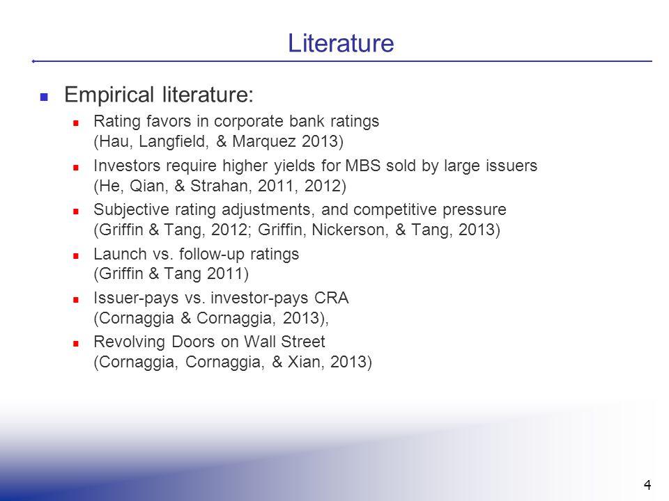 Literature Empirical literature: