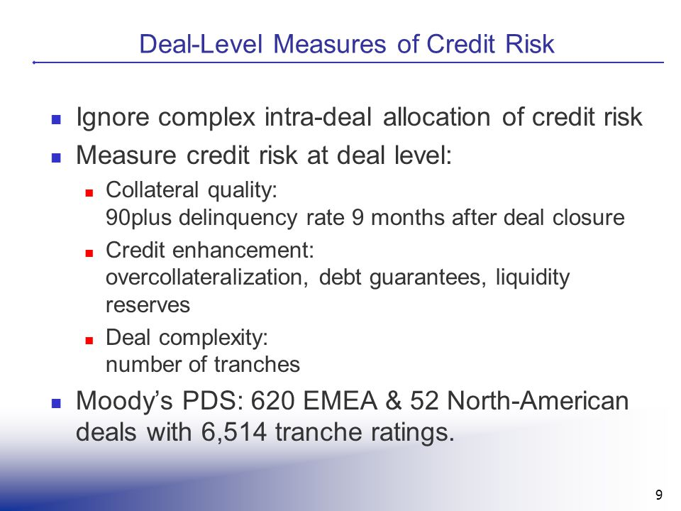 Deal-Level Measures of Credit Risk