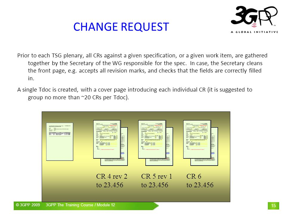 CHANGE REQUEST CR 4 rev 2 to CR 5 rev 1 to