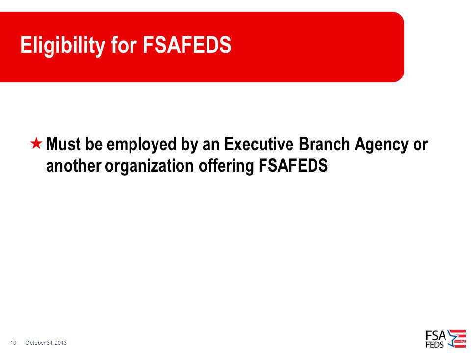 Eligibility for FSAFEDS