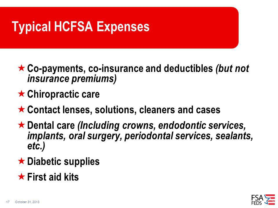 Typical HCFSA Expenses