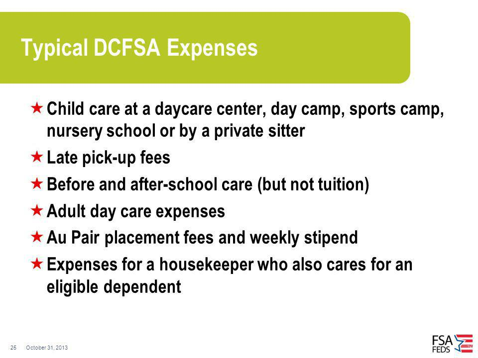 Typical DCFSA Expenses