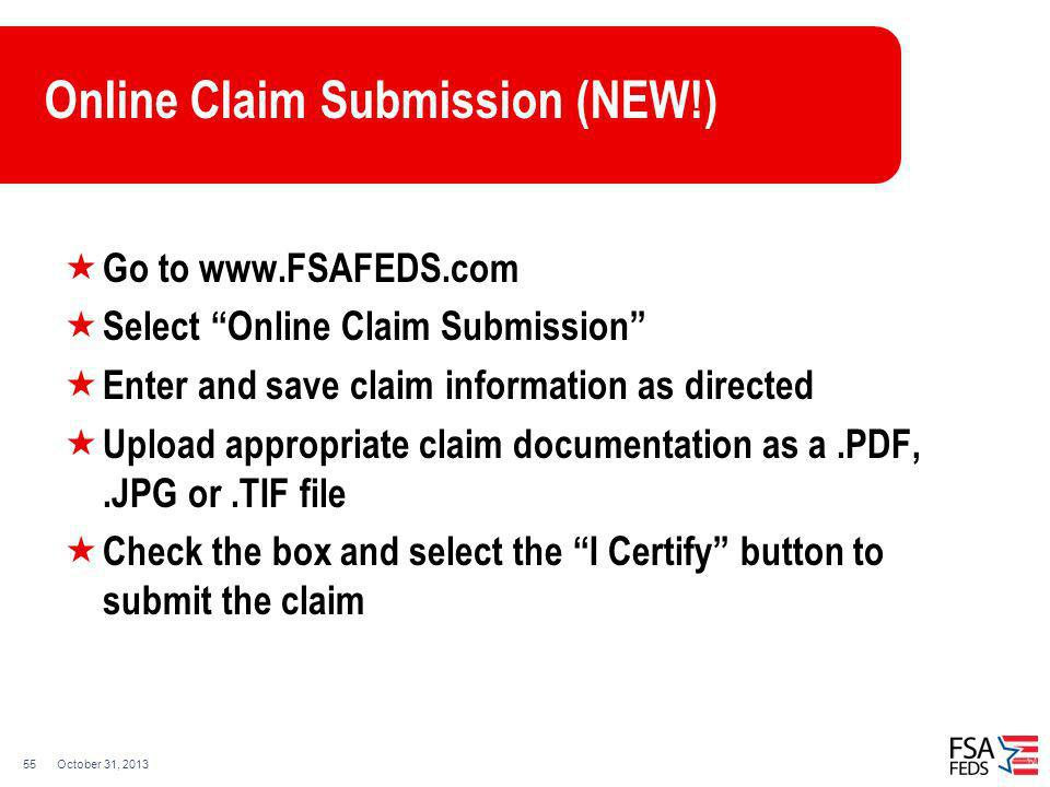 Online Claim Submission (NEW!)