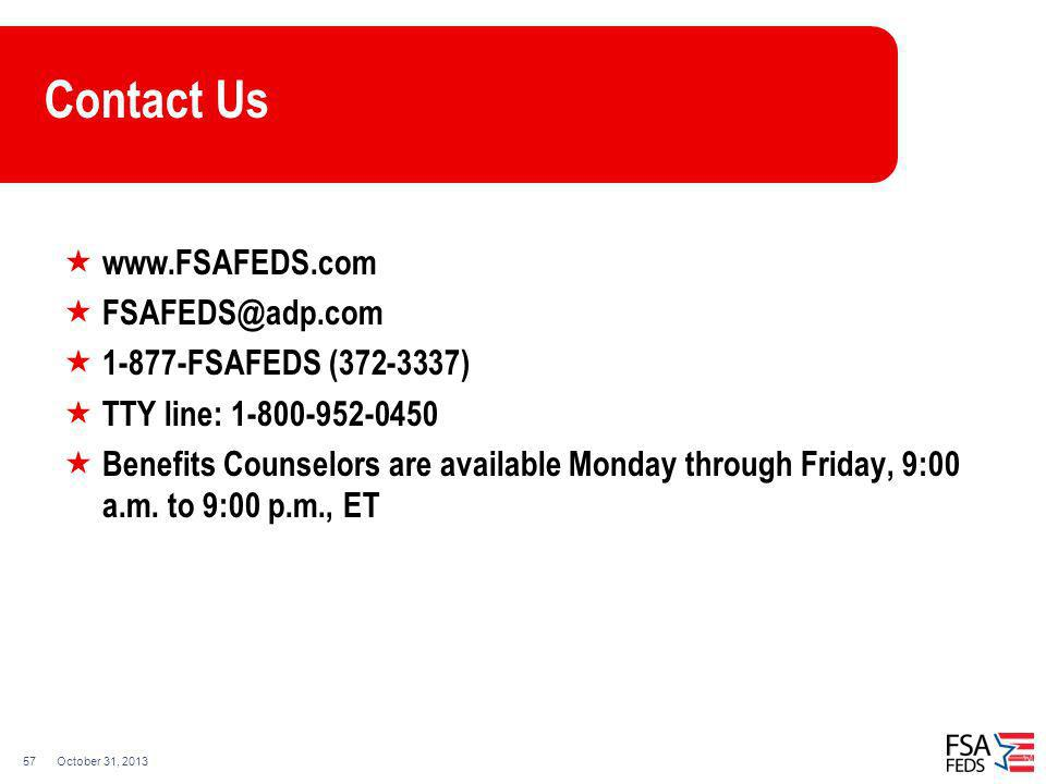 Contact Us FSAFEDS ( )