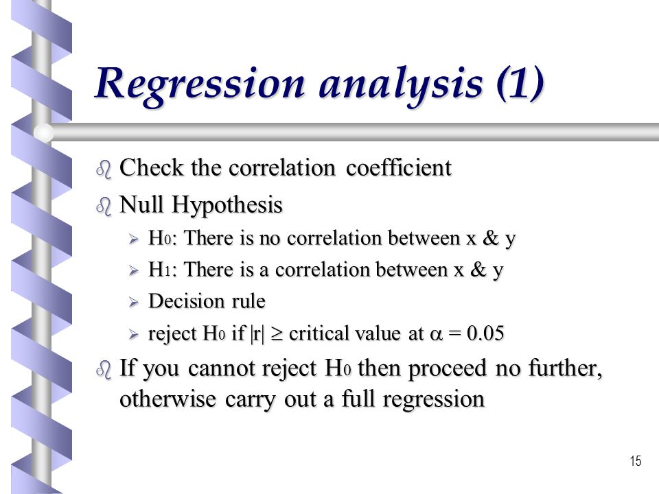 Regression analysis (1)