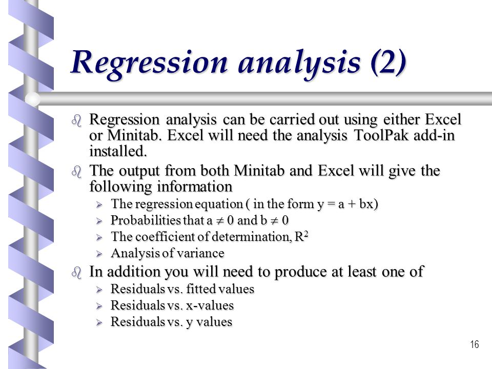 using regression analysis to continuously monitor Towards mission benefits using regression analysis monitor the health of rotary components of a mechanical hums continuously records.