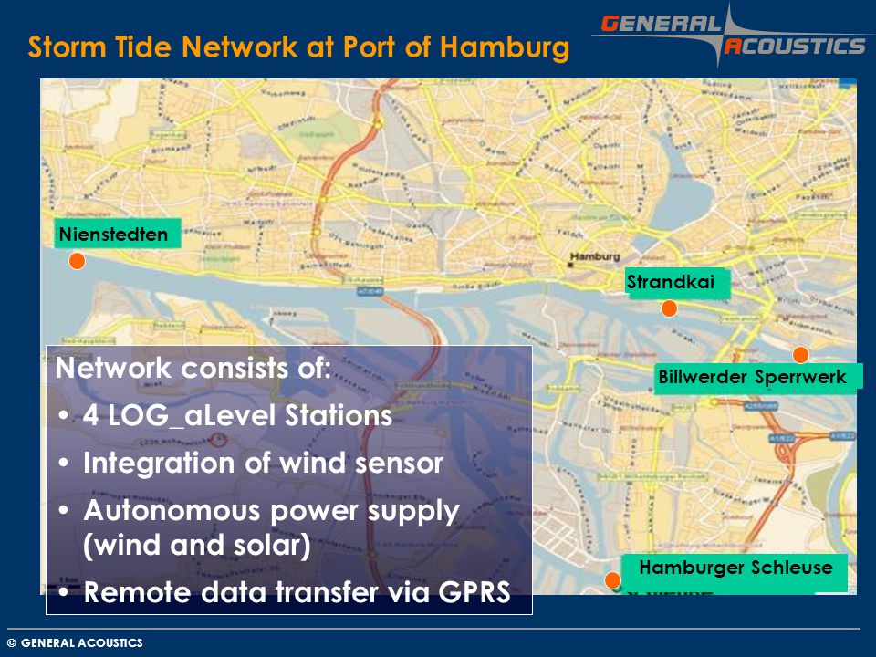 Storm Tide Network at Port of Hamburg