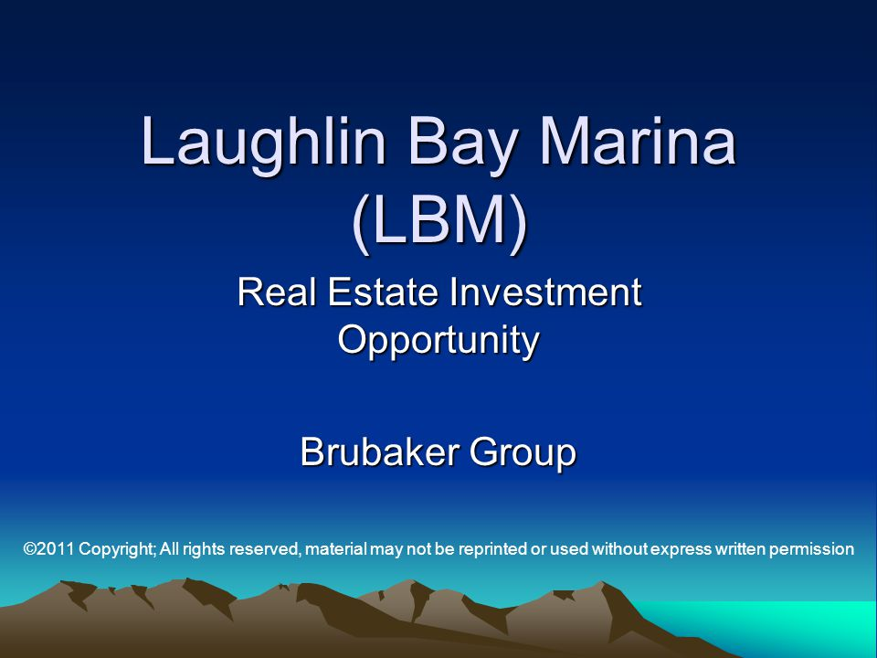 Laughlin Bay Marina (LBM)