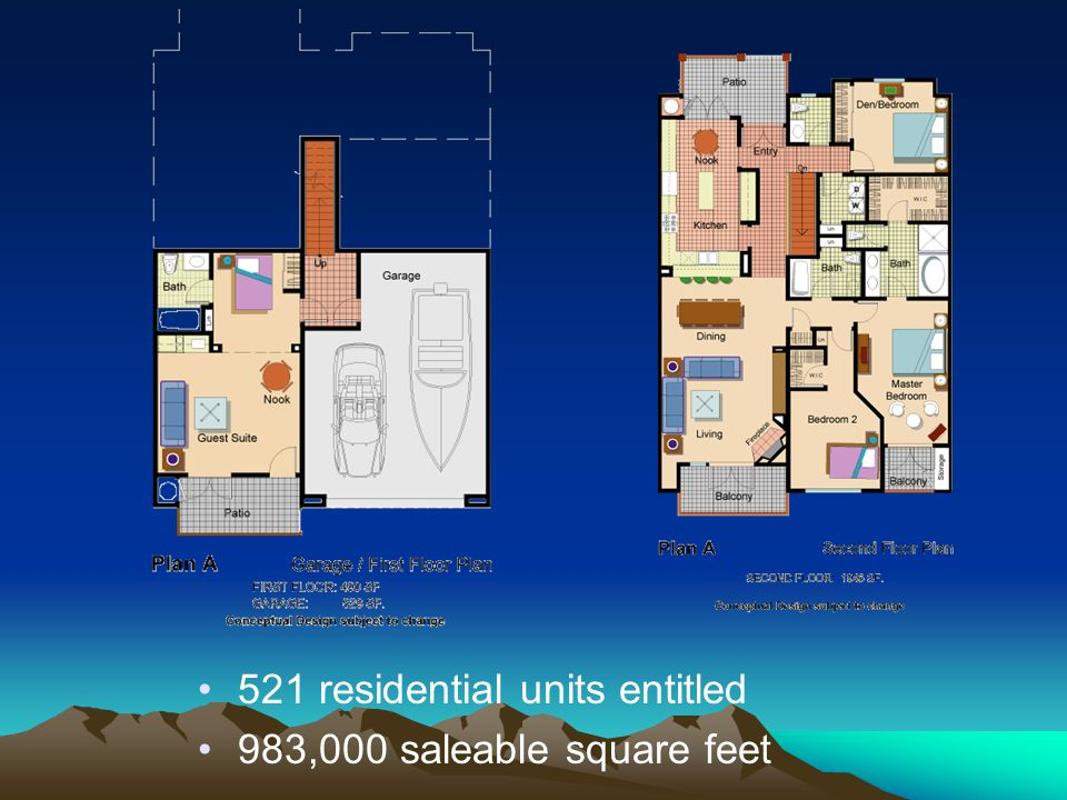 521 residential units entitled
