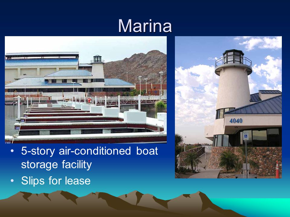 Marina 5-story air-conditioned boat storage facility Slips for lease