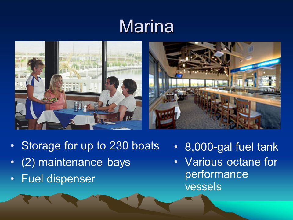 Marina Storage for up to 230 boats 8,000-gal fuel tank