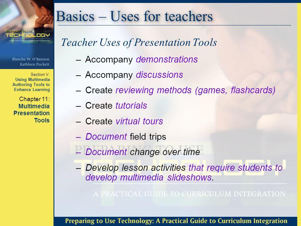 Basics – Uses for teachers