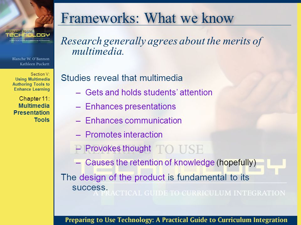 Frameworks: What we know