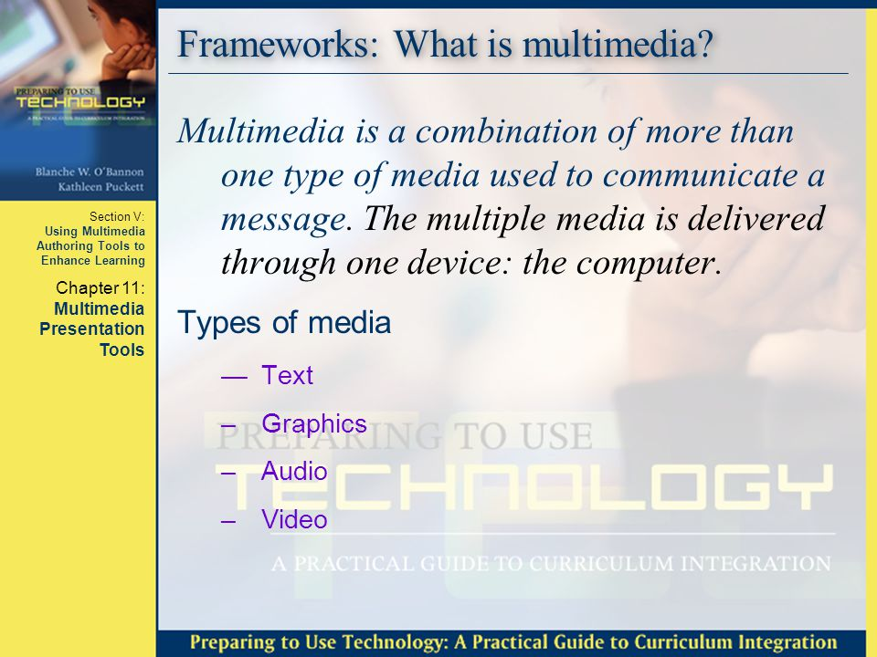 Frameworks: What is multimedia