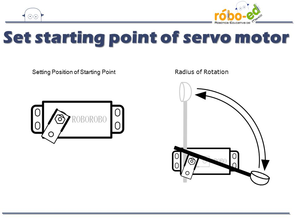 Set starting point of servo motor