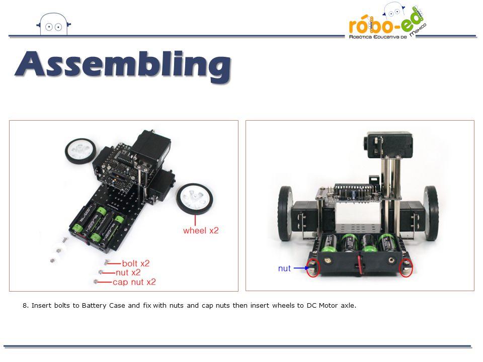Assembling 8.