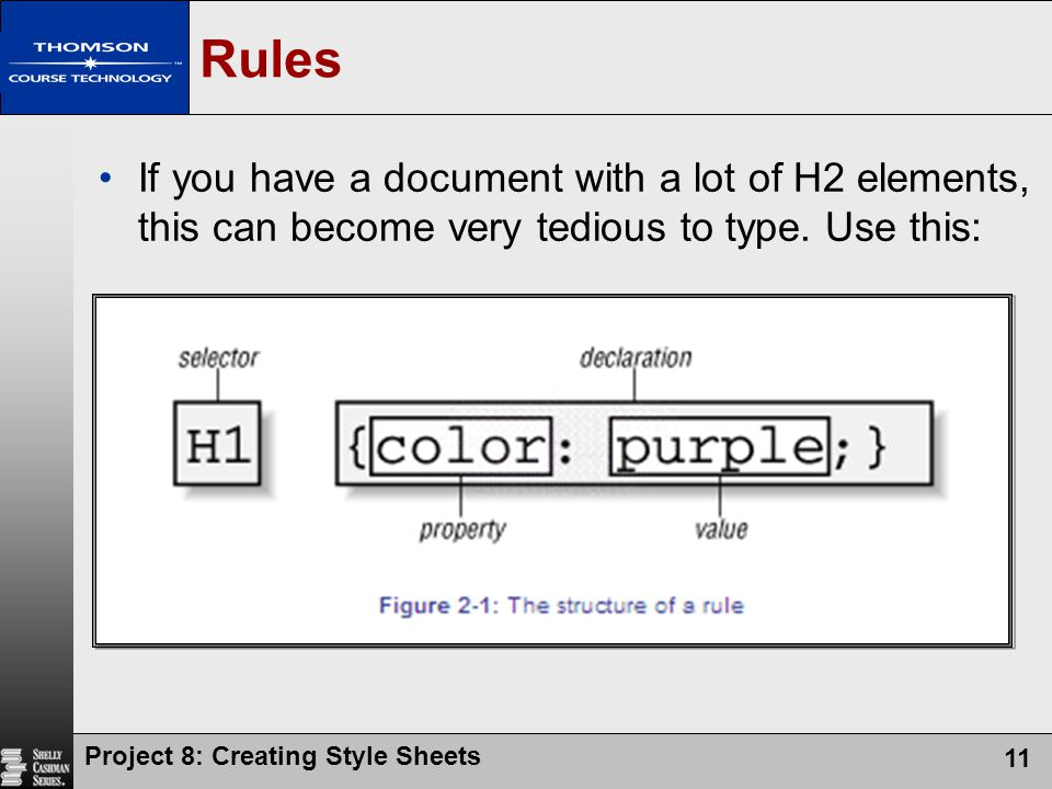 Rules If you have a document with a lot of H2 elements, this can become very tedious to type. Use this: