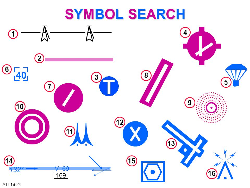 SYMBOL SEARCH 4 1 2 6 40 8 3 5 7 9 10 12 11 13 14 132° V 69 169 15 16 ATB18-24