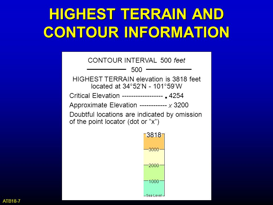HIGHEST TERRAIN AND CONTOUR INFORMATION
