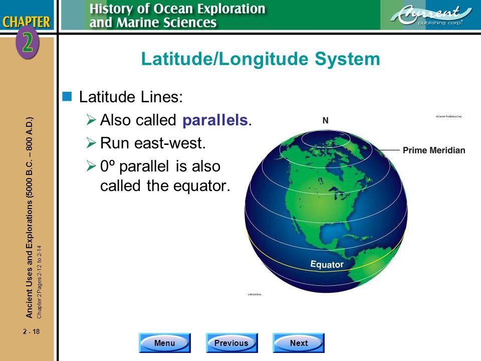 Latitude/Longitude System