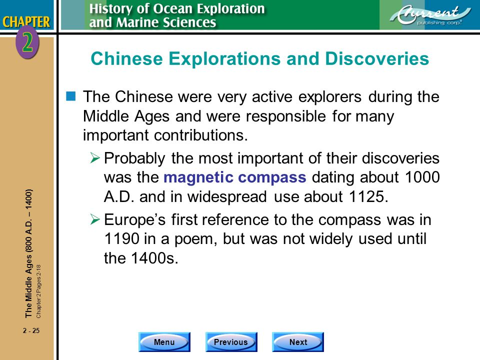 Chinese Explorations and Discoveries