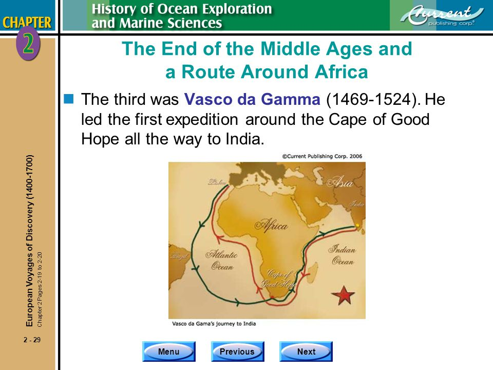 The End of the Middle Ages and a Route Around Africa