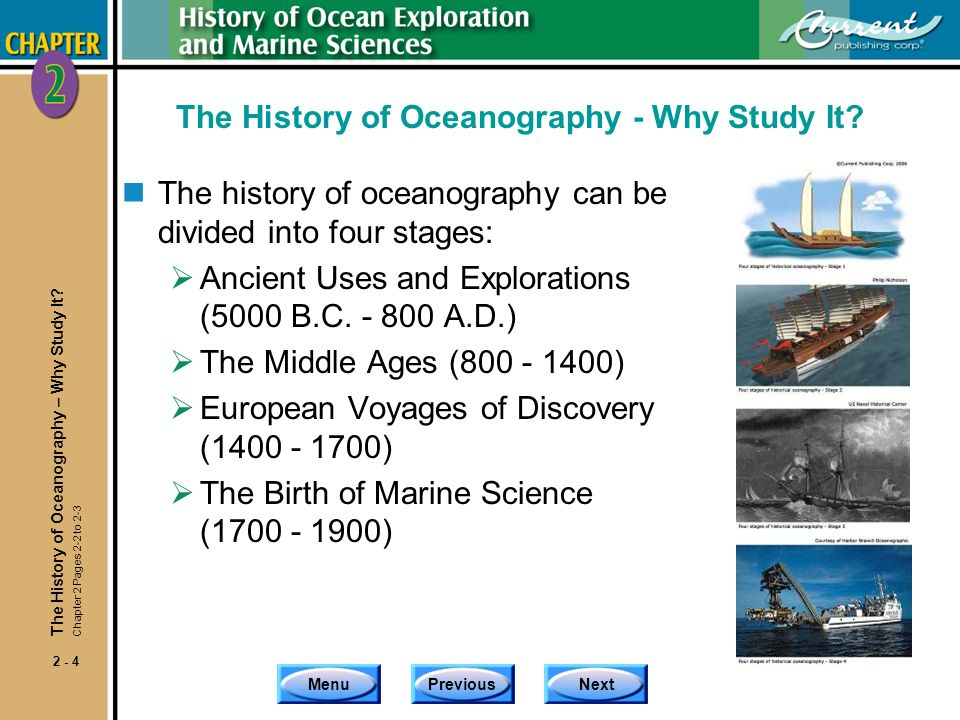 The History of Oceanography - Why Study It