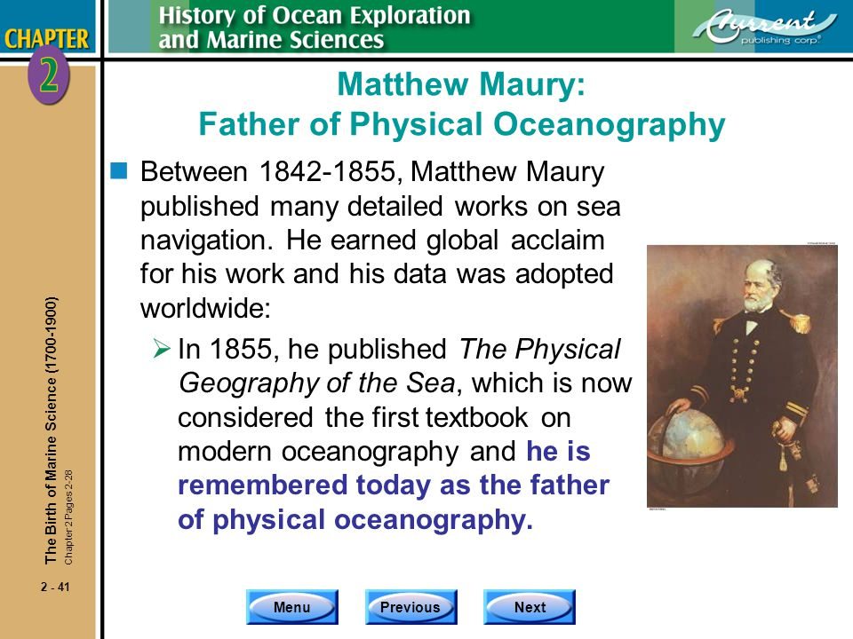 Matthew Maury: Father of Physical Oceanography