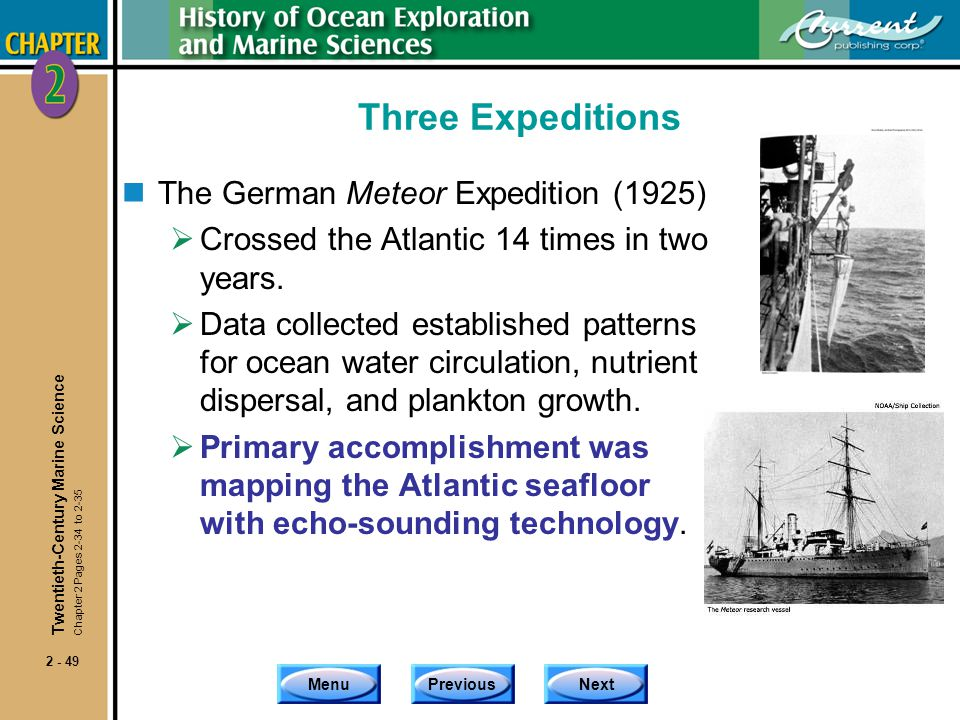 Three Expeditions The German Meteor Expedition (1925)