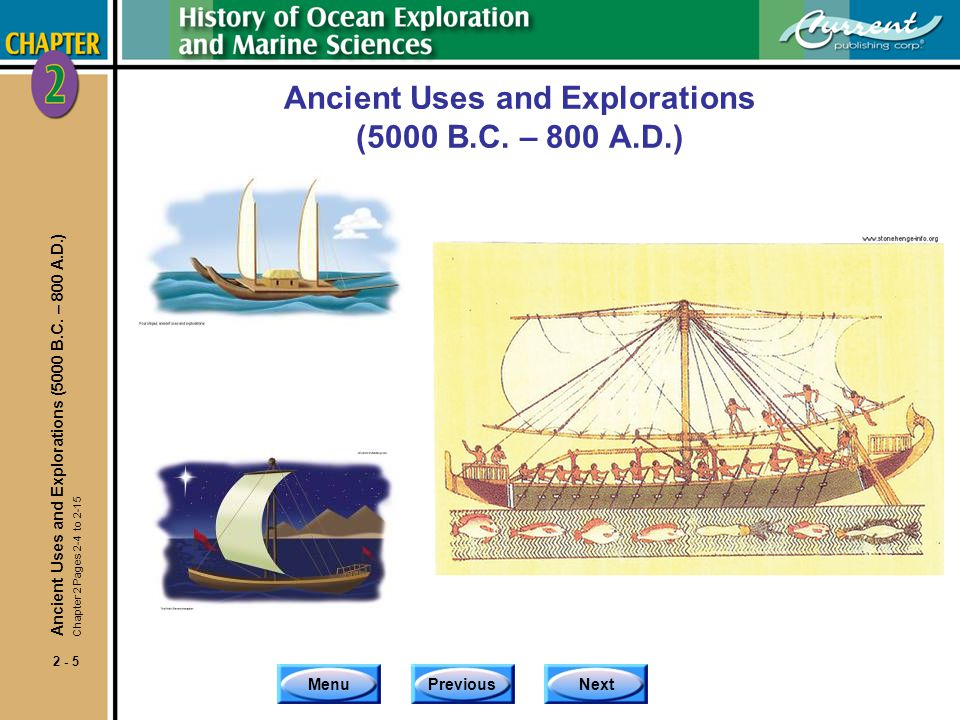 Ancient Uses and Explorations (5000 B.C. – 800 A.D.)