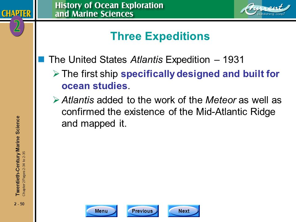 Three Expeditions The United States Atlantis Expedition – 1931