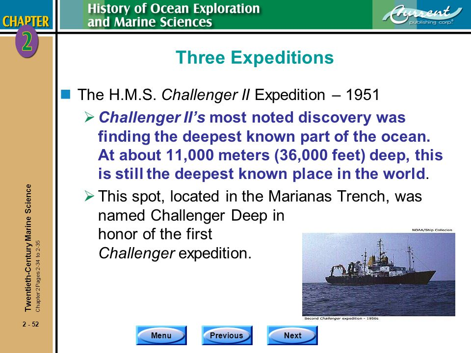 Three Expeditions The H.M.S. Challenger II Expedition – 1951