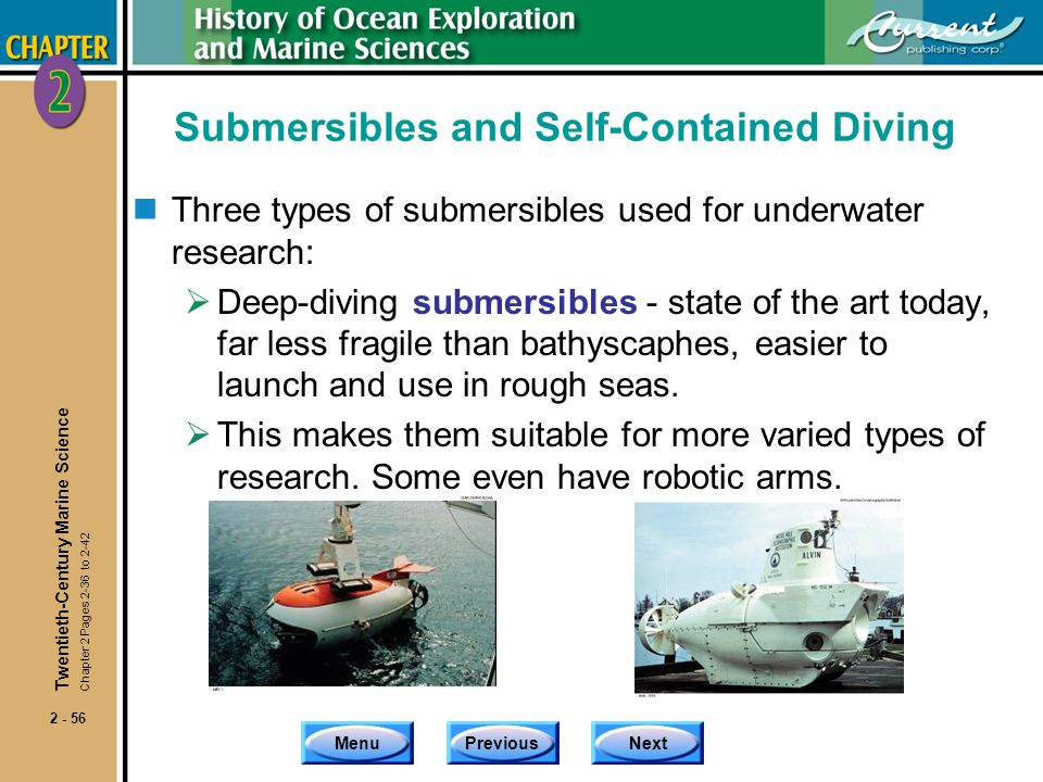 Submersibles and Self-Contained Diving