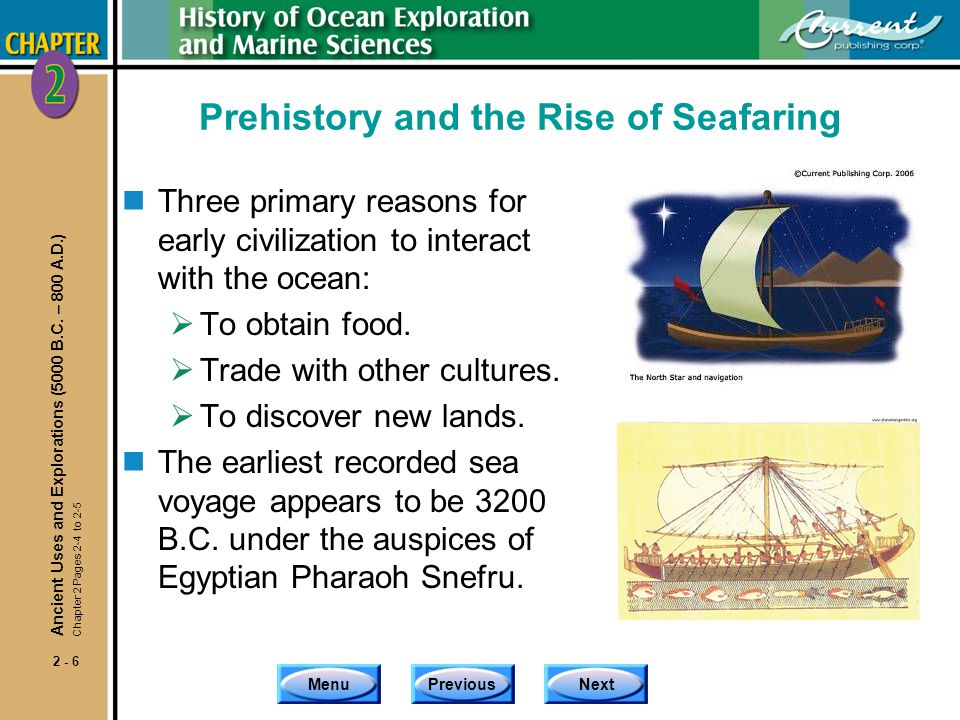 Prehistory and the Rise of Seafaring