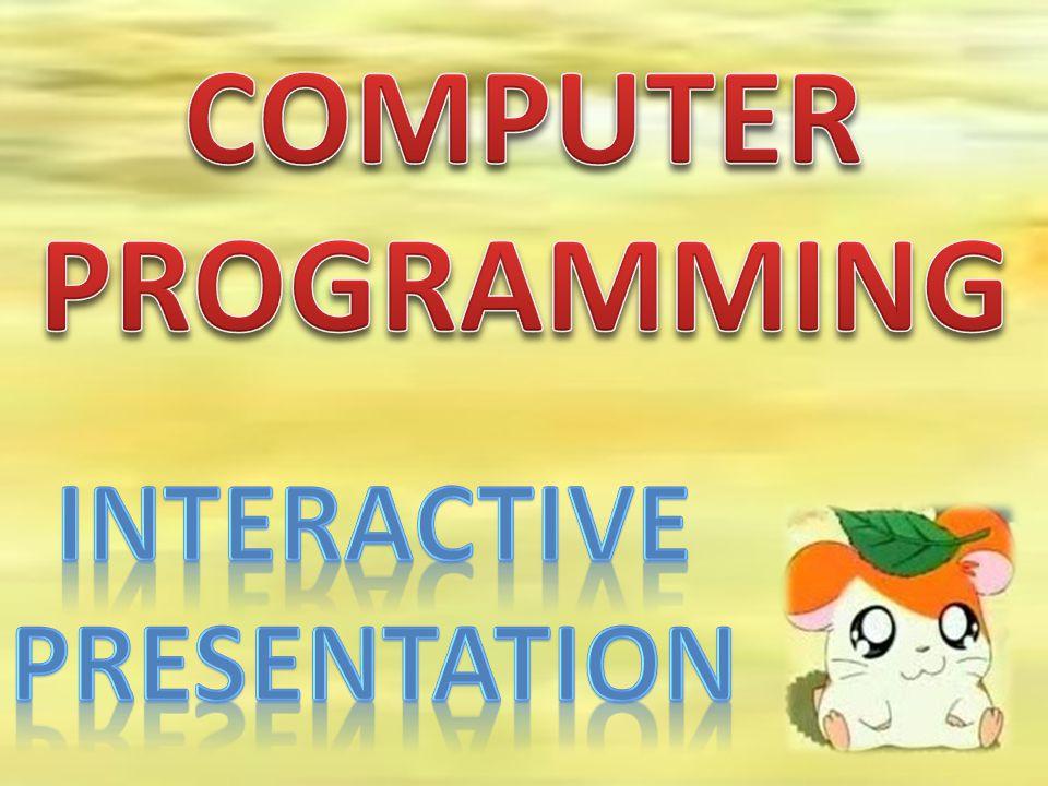 COMPUTER PROGRAMMING INTERACTIVE PRESENtation