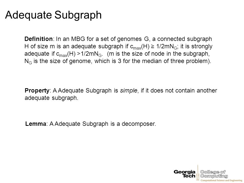 Adequate Subgraph