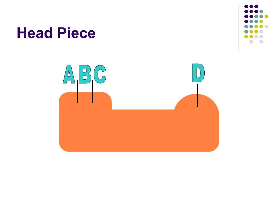 Head Piece A B C D