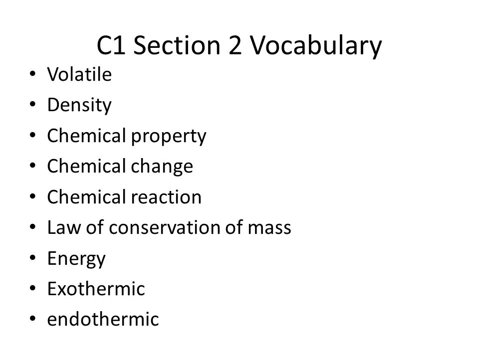 C1: Chemistry: The Science of Matter - ppt download