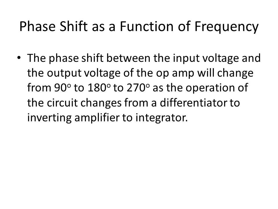 Phase Shift as a Function of Frequency