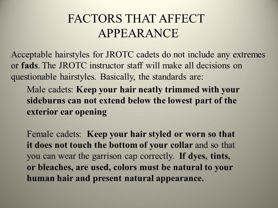 FACTORS THAT AFFECT APPEARANCE