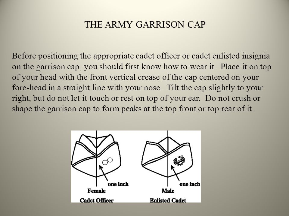 THE ARMY GARRISON CAP