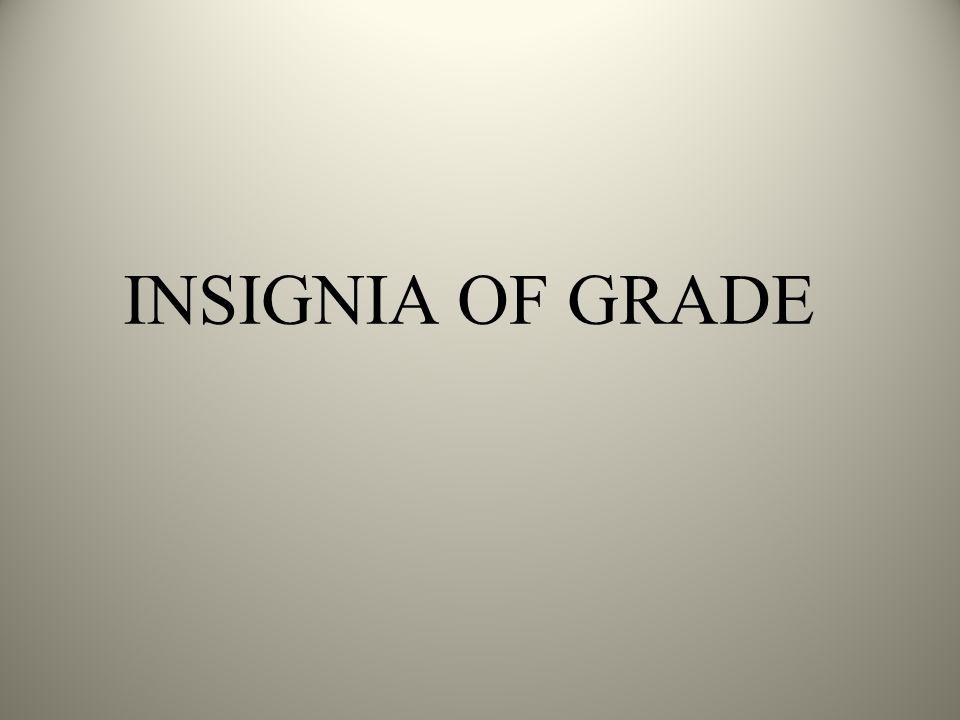 INSIGNIA OF GRADE